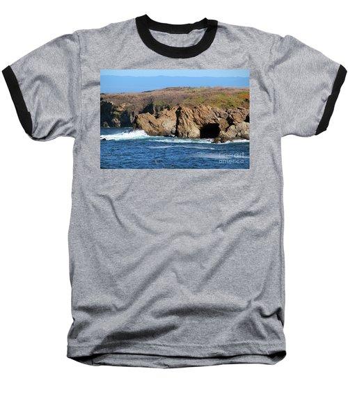 Fort Bragg Mendocino County Baseball T-Shirt by Wernher Krutein