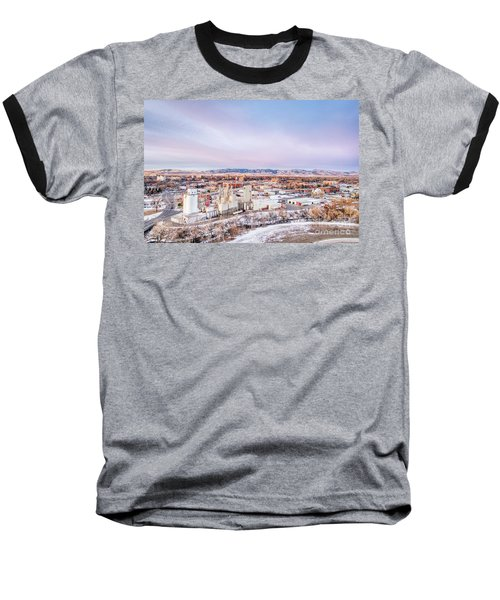 Fort Collins Aeiral Cityscape Baseball T-Shirt