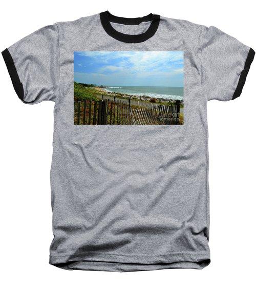 Fort Fisher Beach Baseball T-Shirt