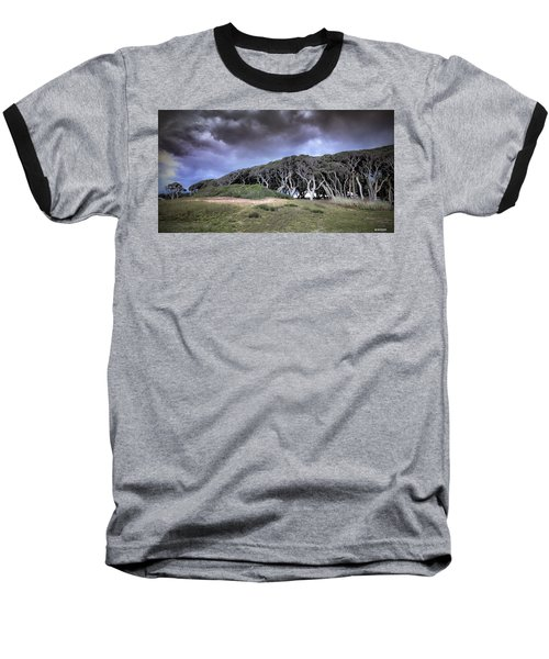 Fort Fisher Stormy Sunset Baseball T-Shirt