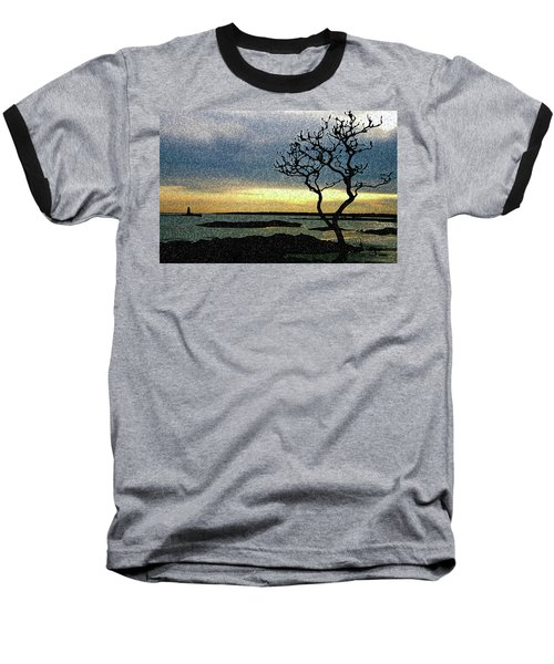 Fort Foster Tree Baseball T-Shirt