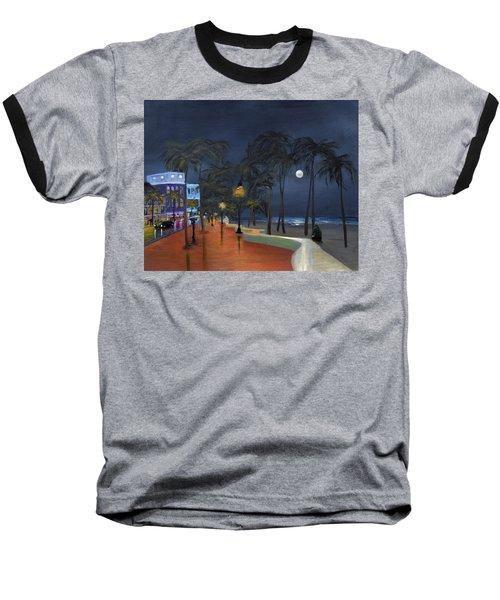 Fort Lauderdale Beach At Night Baseball T-Shirt