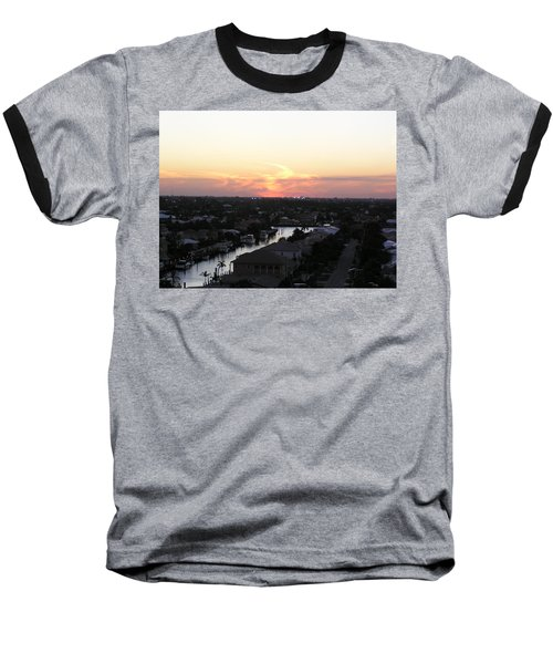 Fort Lauderdale Sunset Baseball T-Shirt by Patricia Piffath