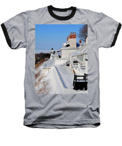 Fort Mackinac Profile Baseball T-Shirt