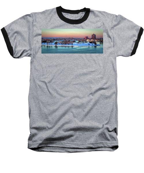 Fort Mchenry Shrouded In Snow Baseball T-Shirt