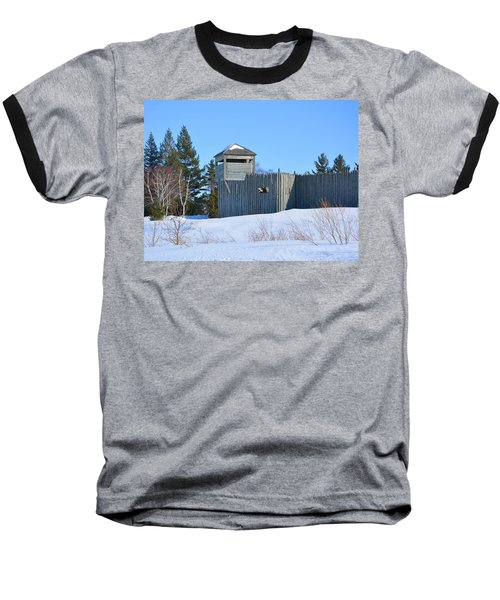 Fort Michilimackinac Northeast Blockhouse Baseball T-Shirt