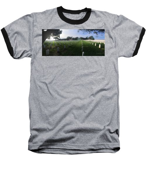 Baseball T-Shirt featuring the photograph Fort Rosecrans National Cemetery by Lynn Geoffroy