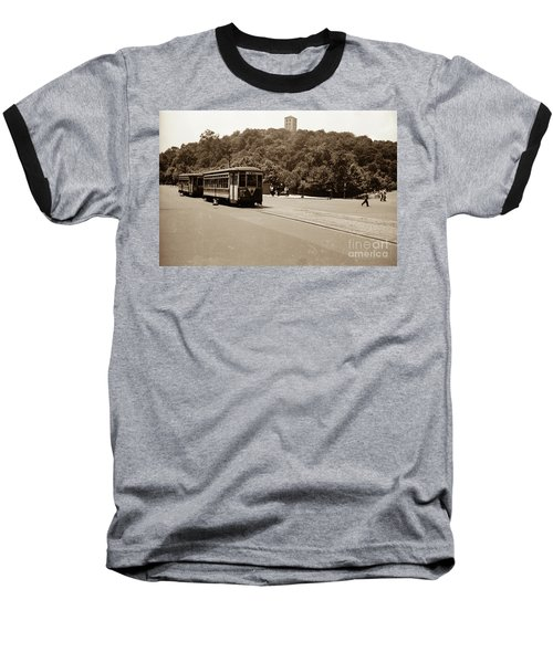 Fort Tryon Trolley Baseball T-Shirt