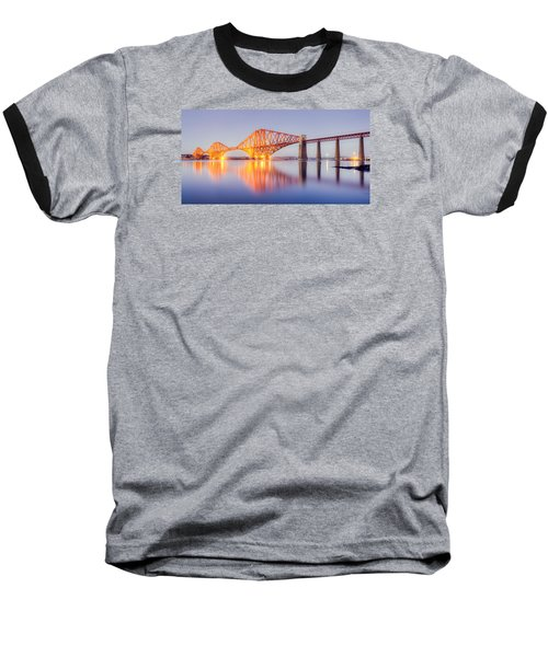 Baseball T-Shirt featuring the photograph Forth Bridge Sunset by Ray Devlin