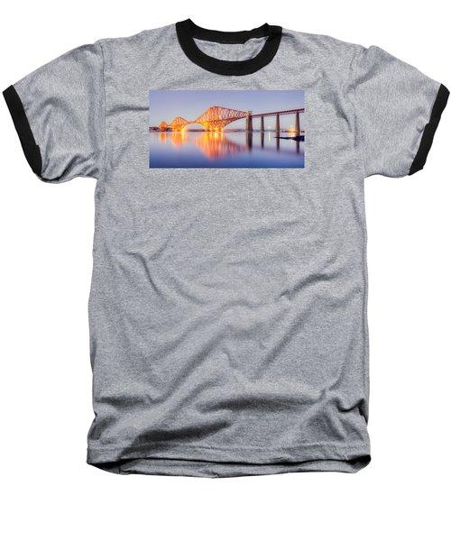 Forth Bridge Sunset Baseball T-Shirt by Ray Devlin