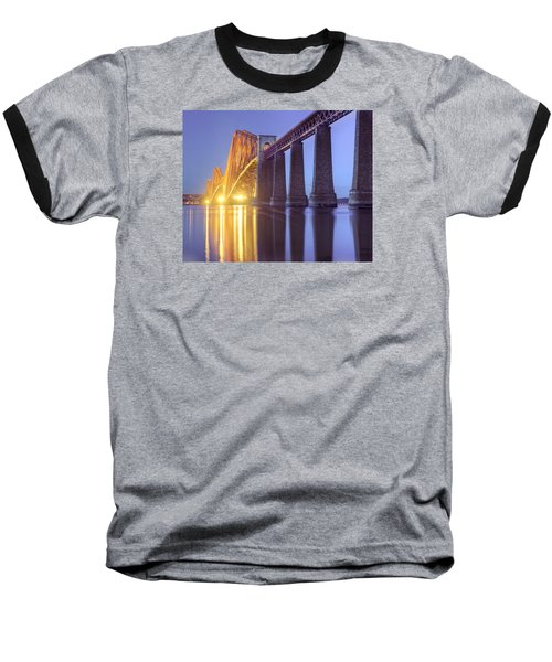 Baseball T-Shirt featuring the photograph Forth Bridge Twilight by Ray Devlin