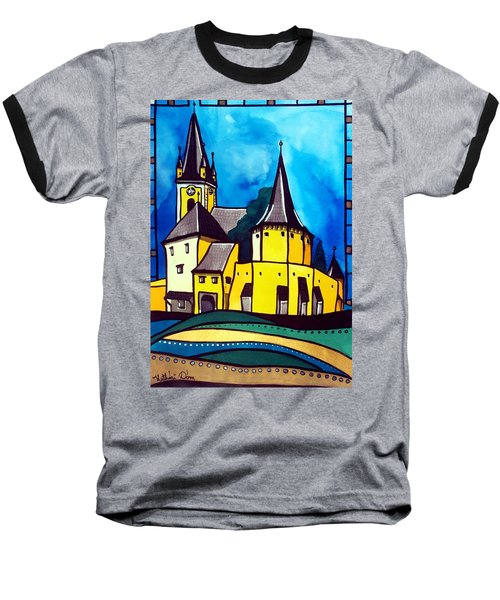 Fortified Medieval Church In Transylvania By Dora Hathazi Mendes Baseball T-Shirt by Dora Hathazi Mendes