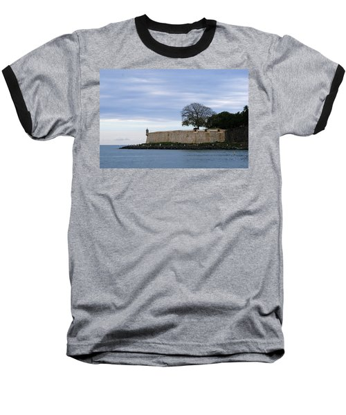 Fortress Wall Baseball T-Shirt by Lois Lepisto