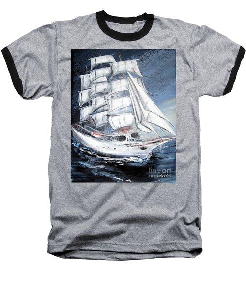 Fortunate. Sailing Ship Baseball T-Shirt
