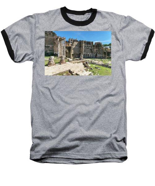 Baseball T-Shirt featuring the photograph Forum Of Augustus by Scott Carruthers