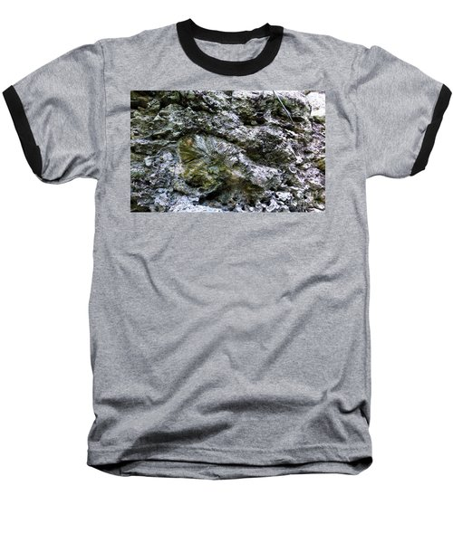 Baseball T-Shirt featuring the photograph Fossil In The Wall by Francesca Mackenney