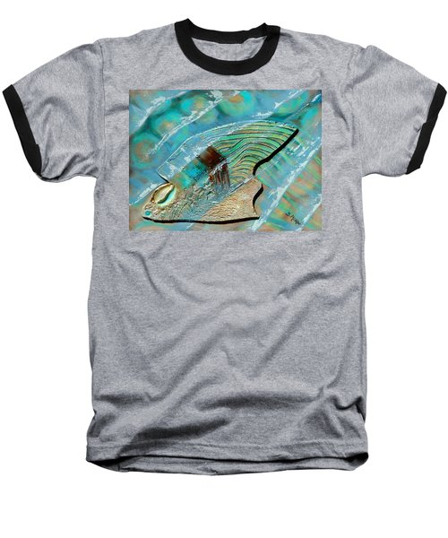 Fossil On The Shore Baseball T-Shirt by Suzanne McKee