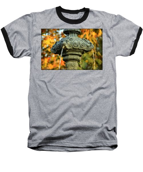 Baseball T-Shirt featuring the photograph Fountain At Union Park by Chris Berry
