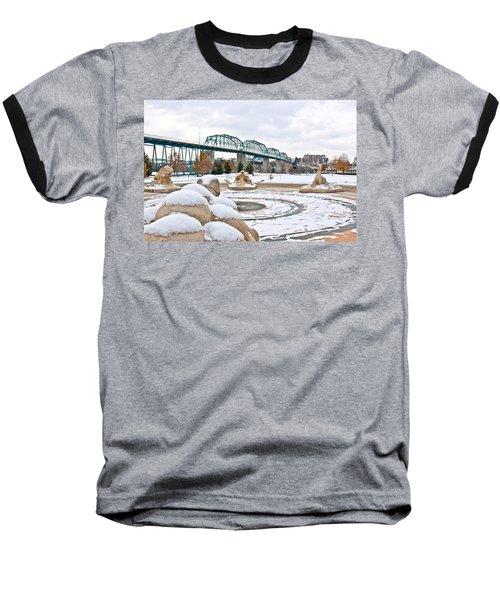 Fountain In Winter Baseball T-Shirt