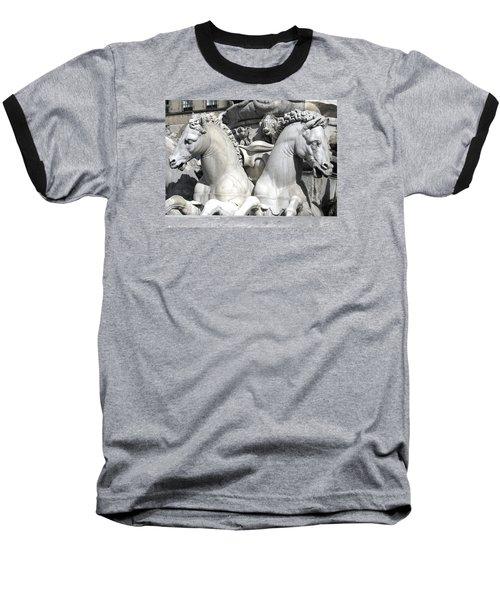 Fountain Of Neptune Florence Baseball T-Shirt by Lisa Boyd