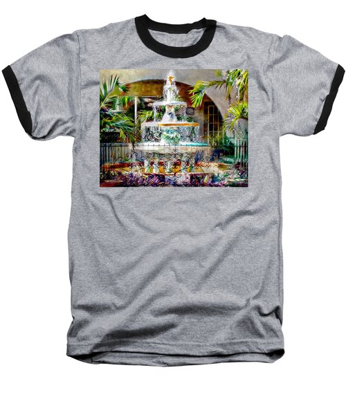 Fountain Of Water Baseball T-Shirt