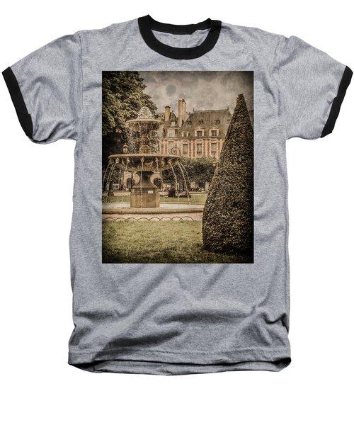 Paris, France - Fountain, Place Des Vosges Baseball T-Shirt