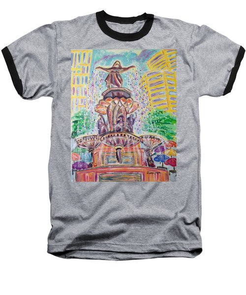 Fountain Square  Cincinnati  Ohio Baseball T-Shirt by Diane Pape