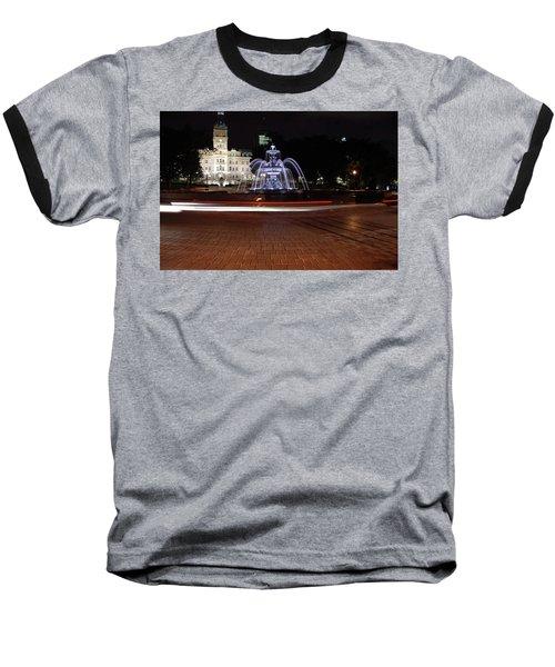 Fountaine De Tourny And Quebec Parliament Baseball T-Shirt by John Schneider