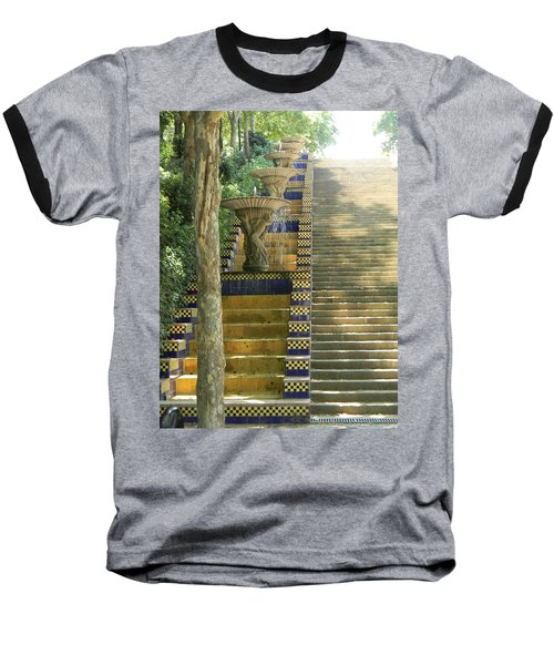 Fountains At Montjuic Baseball T-Shirt