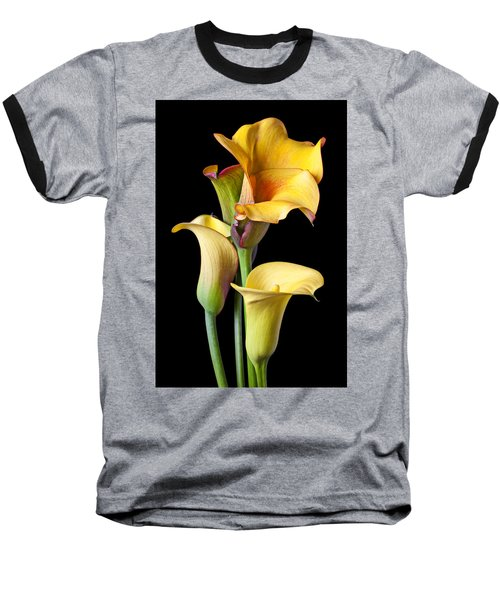 Four Calla Lilies Baseball T-Shirt