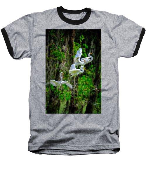 Four Egrets Baseball T-Shirt