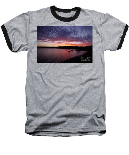 Baseball T-Shirt featuring the photograph Four Elements Sunset Sequence 1 Coconuts Qld  by Kerryn Madsen - Pietsch