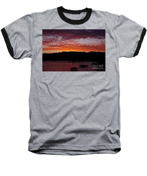 Baseball T-Shirt featuring the photograph Four Elements Sunset Sequence 2 Coconuts Qld by Kerryn Madsen - Pietsch