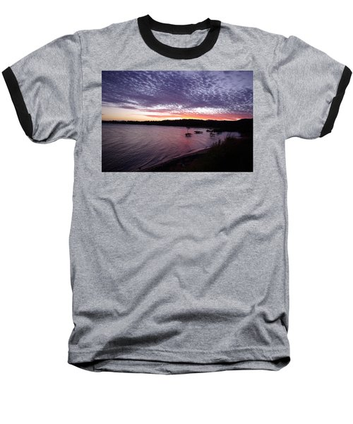 Baseball T-Shirt featuring the photograph Four Elements Sunset Sequence 6 Coconuts Qld  by Kerryn Madsen-Pietsch