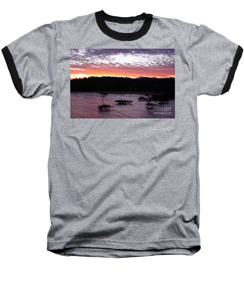 Baseball T-Shirt featuring the photograph Four Elements Sunset Sequence 8 Coconuts Qld  by Kerryn Madsen - Pietsch