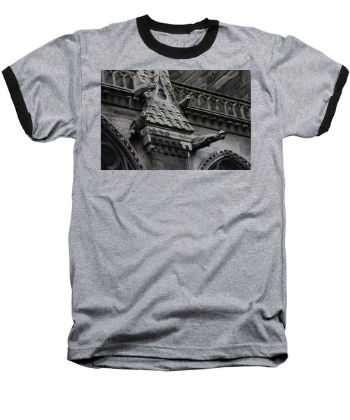 Baseball T-Shirt featuring the photograph Four Gargoyles On Notre Dame North by Christopher Kirby