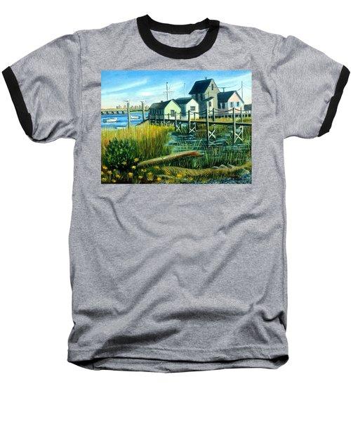 High Tide In Broad Channel, N.y. Baseball T-Shirt