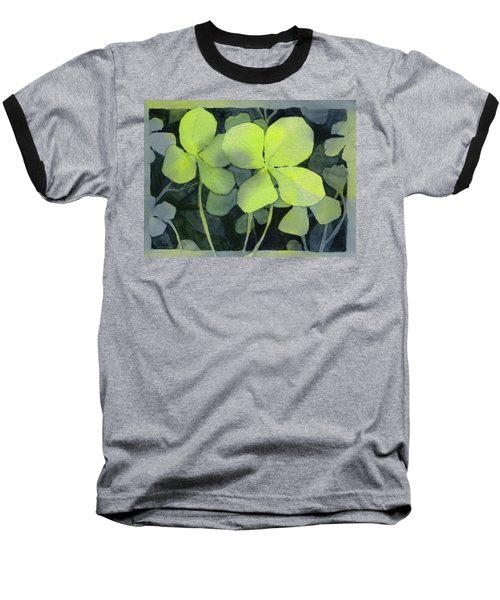 Four Leaf Clover Watercolor Baseball T-Shirt
