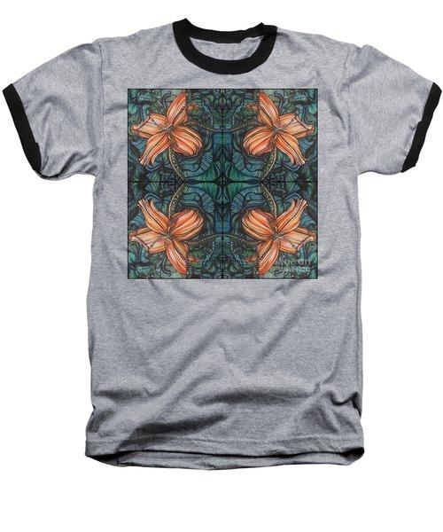 Four Lilies Leaf To Leaf Baseball T-Shirt