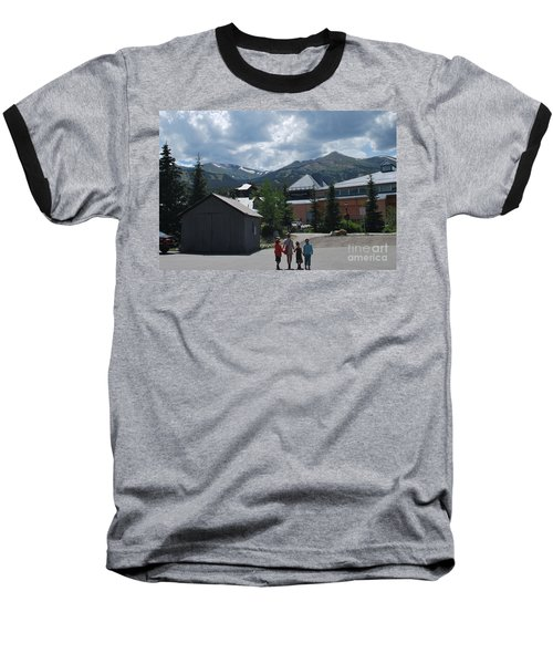 Four Little Children Safe In A Big Beautiful World Telluride Colorado Baseball T-Shirt