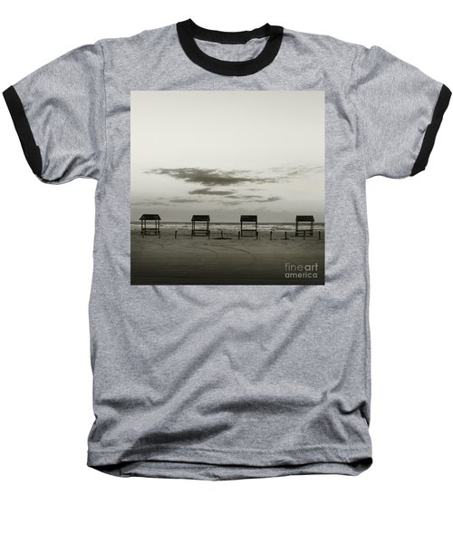 Baseball T-Shirt featuring the photograph Four On The Beach by Sebastian Mathews Szewczyk