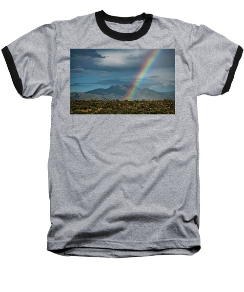 Baseball T-Shirt featuring the photograph Four Peaks Rainbow  by Saija Lehtonen