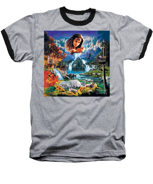 Four Seasons Baseball T-Shirt by Robin Koni