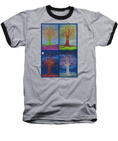 Four Seasons Trees By Jrr Baseball T-Shirt