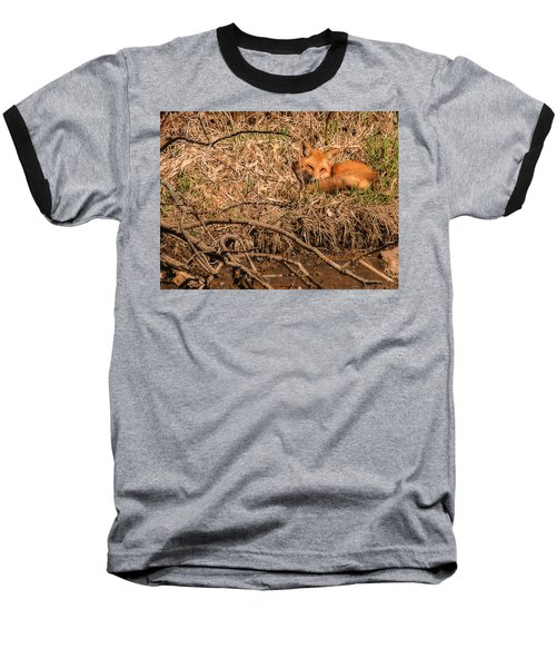 Baseball T-Shirt featuring the photograph Fox  by Edward Peterson