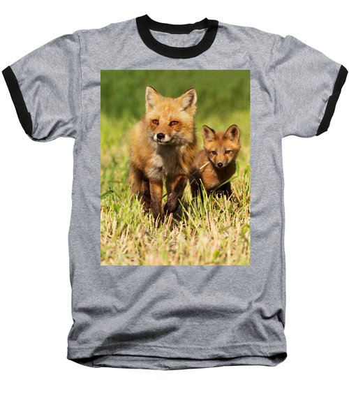 Fox Family Baseball T-Shirt