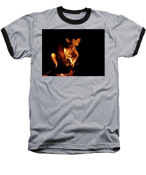 Fox Fire Baseball T-Shirt