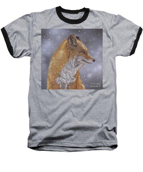 Fox In A Flurry Baseball T-Shirt