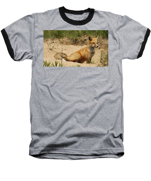 Fox In The Woods 2 Baseball T-Shirt
