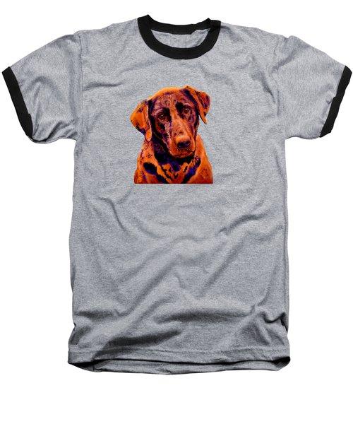 Fox Red Labrador Painting Baseball T-Shirt
